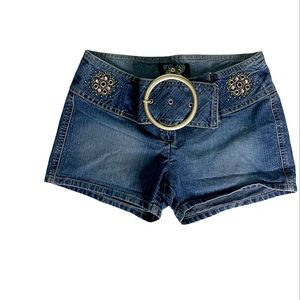 Angels Jean Shorts Hipster With Half Belt size 5